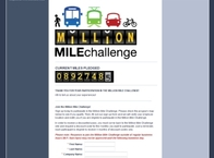 Million Mile Challenge Website