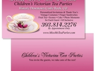 Miss Ms Tea Parlor Business Card