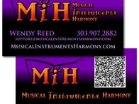 Musical Instruments Harmony Business Card