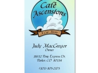 Cafe Ascensions Business Card